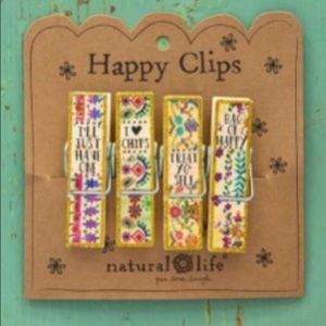Natural Life I Love Happy Chip Clips Pack Of 4